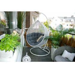:: fotel wiszący cocoon ( biało - szary ) - biało-szary, marki Miloo