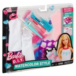 barbie zrób to sama akwarelowe wzory, niebiesko-różowy marki Mattel