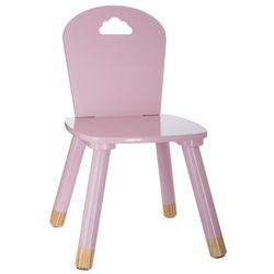 Krzesło dziecięce, DZIECIĘCY MEBEL - kolor różowy, 50 x 28 x 28 cm