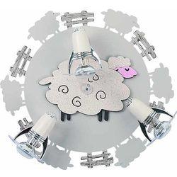 Nowodvorski 4076 - reflektor dziecięcy sheep iii pl - 3xe14/40w/230v (5903139407694)