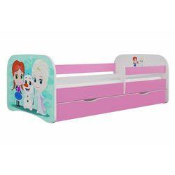 Łóżko dla dziecka, barierka, babydreams, kraina lodu, różowe marki Kocotkids