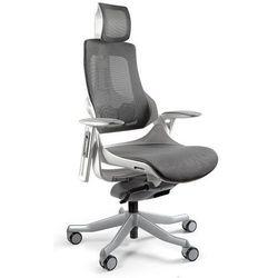 Uq Fotel gabinetowy ergonomiczny wau biały nw41 grafitowy
