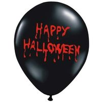 Balony Happy halloween 30 cm. Pastel black 6 szt. (SB14P-128-010/6)