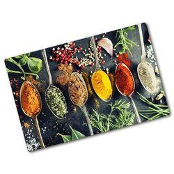 Deska kuchenna duża szklana Kolorowe przyprawy