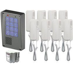 Zestaw 8-rodzinny Radbit Cyfrowy panel domofonowy wielorodzinny z szyfratorem KEC-4 NT MINI GD36, ZR12352