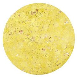 Beliani Dywan skórzany żółty ø 140 cm zeytin
