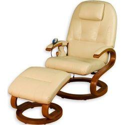 Ekskluzywny fotel z masażem kremowy marki Stilista