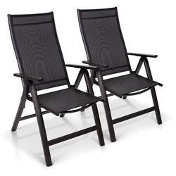 Blumfeldt london, fotel ogrodowy, zestaw 2 sztuk, tkanina syntetyczna (textilene), aluminium, 6 pozycji, składany