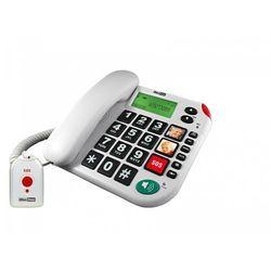 Kxt 481 sos telefon przewodowy + pilot sos, marki Maxcom