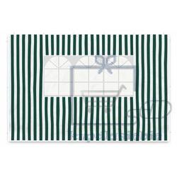 Komplet dwóch ścian do pawilonu garth 3 x 3 m - biało-zielony marki Garthen