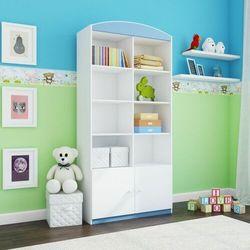 Regał do pokoju dziecka, podwójny, babydreams, 90 cm, niebieski