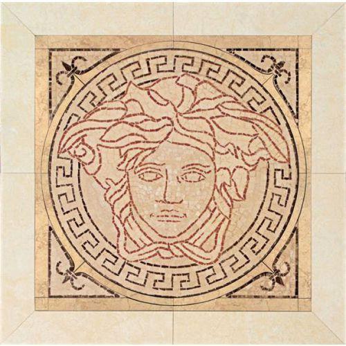PALACE LIVING Rosoni in pietra Rosa/Almond/Beige/Nero 50x50 (P83) - produkt z kategorii- glazura i terakota