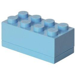 MINI POJEMNIK LEGO 8 JASNONIEBIESKI- LEGO POJEMNIKI