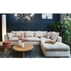 Sofa narożna prawostronna nicea beżowa - beżowy marki 9design