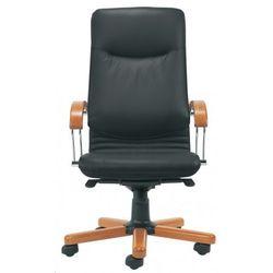 Fotel gabinetowy NOVA wood alu/chrome - biurowy, krzesło obrotowe, biurowe, NOVA wood alu/chrome