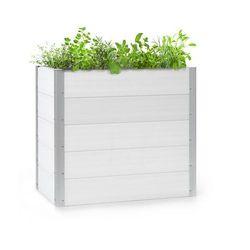 Blumfeldt nova grow, podniesiona grządka, 100 x 91 x 50 cm, wpc, imitacja drewna, biała (4060656226458)