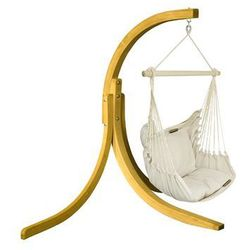 Zestaw hamakowy: fotel HC-9 ze stojakiem drewnianym Alicante Swing, ecru fotel HC-9+stojak Alicante Swing