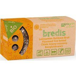 Chleb lniany suszony z słonecznikiem i lnem bezglutenowy bio 70 g - papagrin, marki Papagrin (przekąski raw)