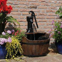 Ubbink dodatek do ogrodu drewniana beczka na wodę (8711465870207)