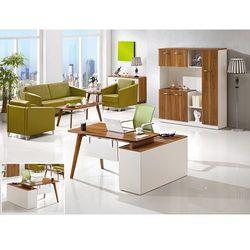 Nowoczesne biurko z pomocnikiem evolutio a909b marki Bemondi