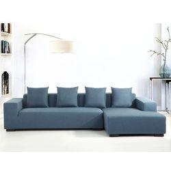 Sofa niebieska - sofa narożna L - tapicerowana - LUNGO z kategorii Sofy