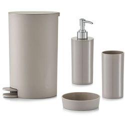 Zestaw akcesoriów łazienkowych, 4 elementy w komplecie - kolor taupe, ZELLER (4003368188027)