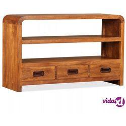 vidaXL Szafka pod telewizor, drewno o wyglądzie sheesham, 90x30x55 cm (8718475567967)
