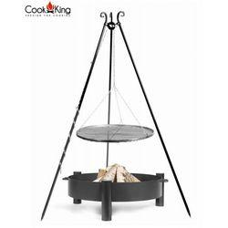 Cook&king Zestaw 3w1, grill stal czarna 80cm + palenisko haiti 80cm