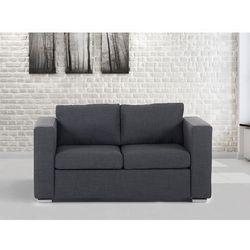 Sofa ciemnoszara - dwuosobowa - kanapa - sofa tapicerowana - HELSINKI - sprawdź w wybranym sklepie