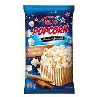 Popcorn do mikrofalówki karmelowy z cynamonem 90g Helio (5905617000472)