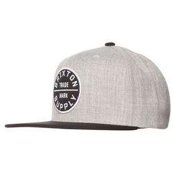Brixton OATH III Czapka z daszkiem light heather grey/black z kategorii nakrycia głowy i czapki