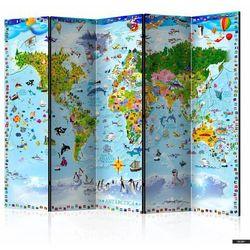 Selsey parawan 5-częściowy - mapa świata dla dzieci (5903025214672)