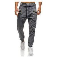 Spodnie joggery męskie szare Denley 0473, 1 rozmiar