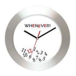 Aluminiowy zegar naścienny whenever