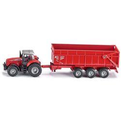 Siku Traktor massey ferguson z przyczepą, kategoria: traktory
