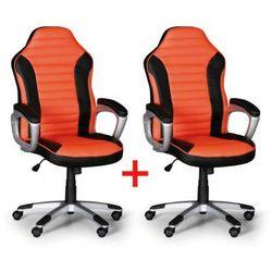 B2b partner Fotel biurowy sport 1+1 gratis, czarno-pomarańczowy