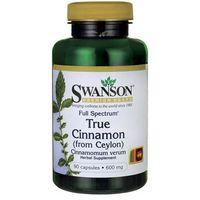 Swanson Full Spectrum True Cinamon (Cynamon cejloński) 600mg 90 kaps. (artykuł z kategorii Preparaty na pozi