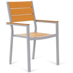 Krzesło ogrodowe aluminiowe Salvador Silver / Teak