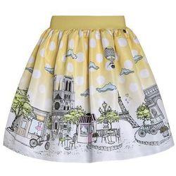 Love Made Love PARIS Spódnica trapezowa yellow - produkt z kategorii- Spódniczki