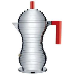 Zaparzacz do espresso pulcina z czerwonym uchwytem 300 ml marki Alessi