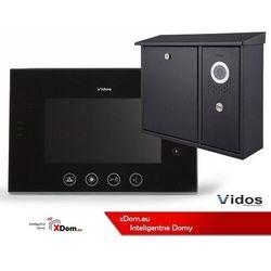 Zestaw VIDOS skrzynka na listy z wideodomofonem. Monitor 7'' S551-SKN_M670B-S2