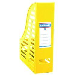 Pojemnik ażurowy na dokumenty DONAU, PP, A4, składany, żółty
