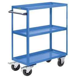 Montażowy wózek pomocniczy, 3 piętra, nośność 350 kg, wys. całkowita 1215 mm, ja marki Eurokraft