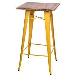 D2.design Stół barowy paris wood sosna - żółty