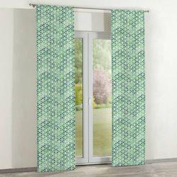 Dekoria zasłony panelowe 2 szt., kwiatki na cieniowanym zielonym tle, 60 x 260 cm, urban jungle