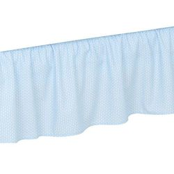 Mamo-tato falbanka do łóżeczka lux jodełka niebieska
