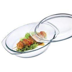 Simax Naczynie szklane owalne z pokrywką 3,6 l, 3,6 l z kategorii Brytfanny