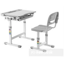 Cantare Grey - Ergonomiczne, regulowane biurko dziecięce + krzesełko FunDesk - ZŁAP RABAT: KOD30