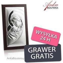 Obrazek srebrny matka boska z dzieciątkiem 8 cm* 12 cm wyprodukowany przez Valenti & co