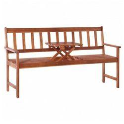 Ławka ogrodowa ze stolikiem Tena - 158 cm, vidaxl_44041